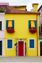 Burano italy typical colourful architecture Stock Image