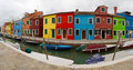 Burano Panorama. Stock Images