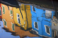 Burano reflection Royalty Free Stock Photos