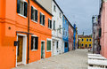 Burano venice colorful houses island and landmark of veneto region italy Royalty Free Stock Images