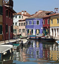 Burano in Venice - Italy Stock Photo