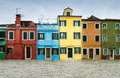 Burano venice italy channel view of colorful village landmark of veneto region Stock Photography
