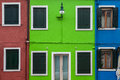 Burano venice italy street in Royalty Free Stock Images
