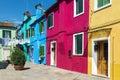 Burano village near venise famous italy Royalty Free Stock Photography