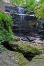 Burden falls on Bay creek, Shawnee National Forest, Illinois Royalty Free Stock Photo