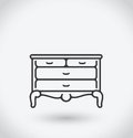 Bureau Icon on white background.