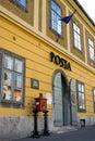 Bureau postal Old-styled en Hongrie Images stock