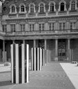Buren s columns in paris palais royal Royalty Free Stock Images