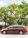 Burgandy honda odyssey editorial image depicting accurate information about this vehicle for use in news amber alerts vehicles Royalty Free Stock Photos