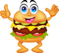 Burger cartoon characters illustration of Royalty Free Stock Images