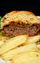 Burger And Chips Royalty Free Stock Photo
