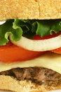Burger close up Royalty Free Stock Photo