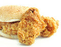 Burger Fried chicken Stock Image