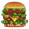 Burger Illustration Royalty Free Stock Photos