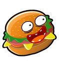 Burger illustration of a big tasty burgers and delicious Royalty Free Stock Images