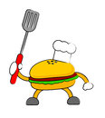 Burger illustration graphic cartoon character of Stock Photos