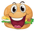 Burger illustration of a on a white background Stock Image