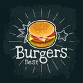 Burger include cutlet, tomato, cheese and salad. Vector flat illustration