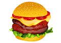 Burger isolated on white background eps Royalty Free Stock Photography