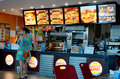 Burger king inside fast food restaruant in algarve shopping center albufeira portugal Stock Image