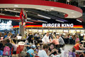 Burger king restaurant at the shopping mall schiphol plaza part of the arrival hall of the airport schiphol in the netherlands Stock Photo