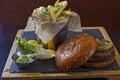 Kobe burger Royalty Free Stock Photo