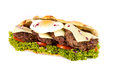 Burger sub on white background Royalty Free Stock Photos