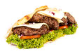 Burger sub on white background Stock Photography