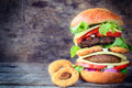 Burger time Royalty Free Stock Photo