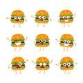 Burger - vector set of mascot illustrations.