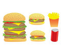 Burgers and chips Royalty Free Stock Image