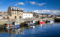 Burghead harbour scotland small village on the moray coast of Stock Images