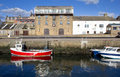 Burghead harbour scotland small village on the moray coast of Stock Image