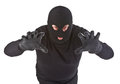 Burglar attack Royalty Free Stock Photography