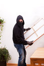 A burglar steals a picture painting Royalty Free Stock Photo