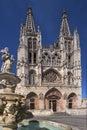 Burgos Cathedral - Burgos - Spain Stock Image