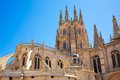 Burgos Cathedral rear facade Saint James Way Royalty Free Stock Photo