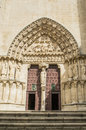 Burgos cathedral sarmental entrance spain the south side of the gothic of in called el Royalty Free Stock Photos