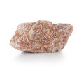 Burgundy rough stone isolated on a white background Royalty Free Stock Image