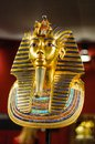Burial mask of the egyptian pharaoh tutankhamun replica Stock Photo