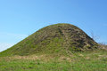 Burial mound the place as a legend says where is the prophetic oleg funeral Royalty Free Stock Images