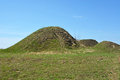 Burial mound the place as a legend says where is the prophetic oleg funeral Royalty Free Stock Photo