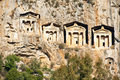 Burial tombs, Turkey Royalty Free Stock Images
