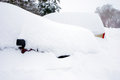 Buried cars two in two feet of snow Stock Photography