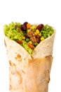 Burito isolated Stock Photo
