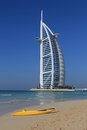 Burj al arab designed to resemble a billowing sail soars to a height of metres Royalty Free Stock Photos