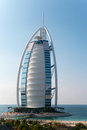 Burj al arab dubai luxury hotel on the island Stock Photos