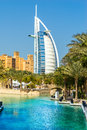 Burj al arab dubai uae january hotel on january in is a luxury star hotel built on an artificial island in Stock Photo