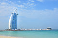 Burj al arab dubai uae luxury hotel in united emirates Stock Image