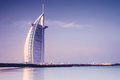 Burj Al Arab hotel on Jumeirah beach in Dubai Royalty Free Stock Images